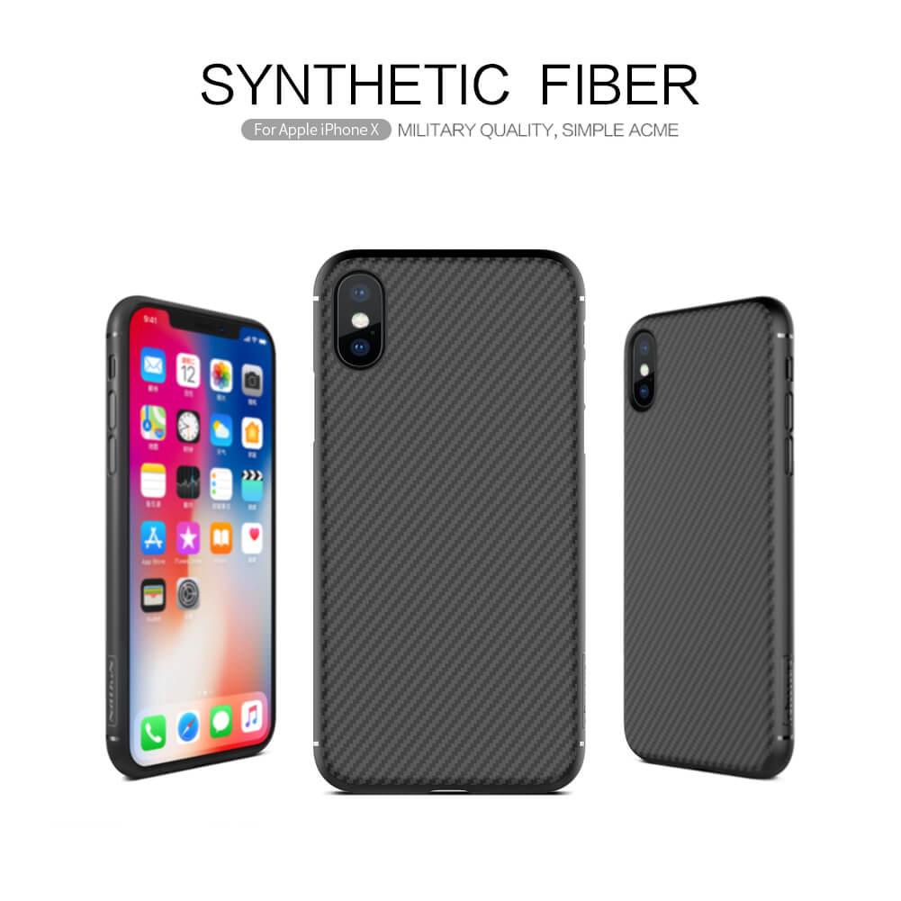 finest selection 5e9fb e204d iPhone X Premium Cover Nillkin Synthetic Fiber